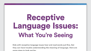Meaning Of Pink Signs Of Receptive Language Issues Symptoms Language Disorder