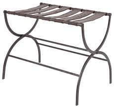 Industrial Closet Organizer - julian metal folding luggage rack with contour legs industrial