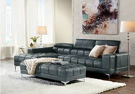 rooms to go sectional sofas shop for a sofia vergara sybella blue blended leather 3 pc