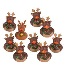amazon com fun express reindeer rubber duckies christmas duck