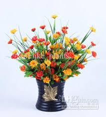 2017 wholesale 40 stems lilac orange silk flowers artificial