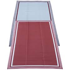 Outdoor Rv Rugs by Fireside Patio Mats Cranberry Sunrise 9 Ft X 12 Ft Polypropylene