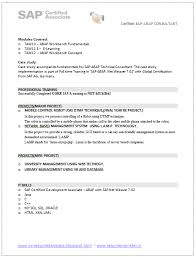 Sap Bi Resume Sample For Fresher by Sap Bw Resume Points Tp Security Cv Bw Hana Resume Resume Sap