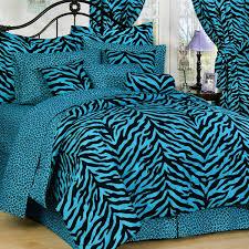 Blue Full Comforter Bedroom Blue And Black Full Zebra Print Bed In A Bag Free Shipping
