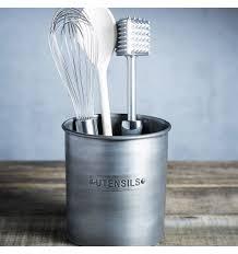 pot ustensile cuisine pot à ustensile en métal gamme rangement cuisine industrielle