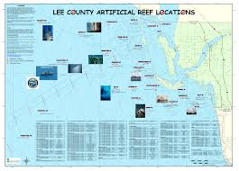 Map Of Southwest Fl Artificial Reefs