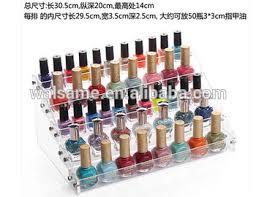 acrylic nail polish organizer makeup drawer display acrylic