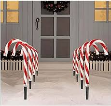 Candy Cane Outdoor Decorations Outdoor Christmas Decorations