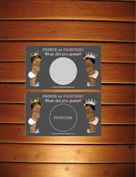 thanksgiving gender reveal set of 10 prince or princess gender reveal scratch off cards