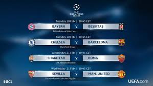 Uefa Chions League Schedule Of Uefa Chions League And Europa League On Us Tv