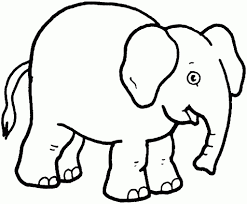 easy drawing elephant coloring pages d free elephant coloring