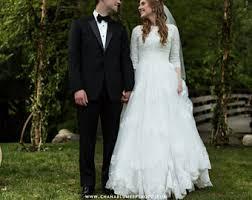 modest wedding dresses lds wedding dress etsy