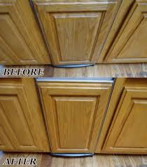 how to clean oak wood cabinets these oak kitchen cabinets with color wear and water damage