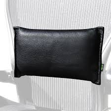 Back Support Pillow For Office Chair Monterey Saddle Lumbar Back Support For Mesh Office Chairs In Leather