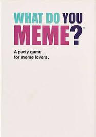 Meme Lovers - what do you meme a millennial card game for millennials and their