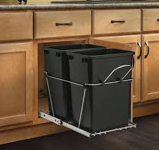 Trash Cans For Kitchen Cabinets Hidden Trash Can Cabinet 19 In H X 9 In W X 20 In D Steel In