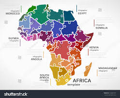 Guinea Africa Map by Map Africa Concept Template Countries Made Stock Vector 223887337
