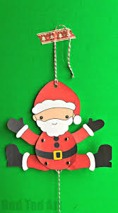 santa paper puppet red ted art u0027s blog