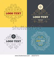 vintage flourishes calligraphic crosshair sign icon stock vector