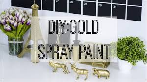 Easy Home Decor Diy by Diy Gold Spray Paint Affordable U0026 Easy Home Decor Gold Accent