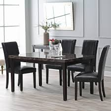 dining room adorable black dining chairs set of 4 table and