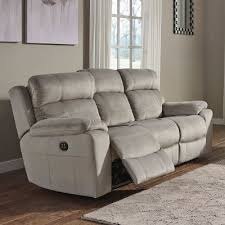 uhland granite power reclining sofa w adjustable headrests