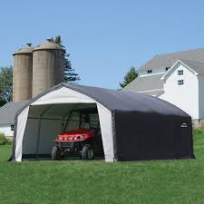 Enclosed Car Canopy by Shelterlogic Accelaframe Hd Shelter Canopy Carport Hayneedle