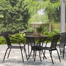 Black Patio Chairs Black Patio Dining Chairs You Ll Wayfair