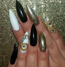 25 pointy nail art designs ideas design trends premium psd