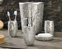 Glass Bathroom Accessories Sets Magic Silver Bath Ensemble Inspired Style Better Living