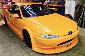 peugeot yellow racecarsdirect com btcc peugeot 406 coupe 2001 ex works vlr