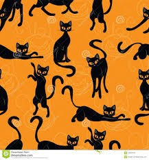 cat halloween background images big skulls and flowers seamless background stock images image
