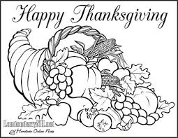empty cornucopia coloring page printable coloring pages