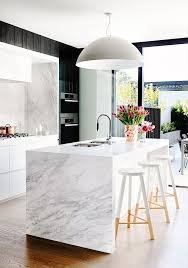 marble kitchen islands 19 stunning modern marble kitchens mydomaine