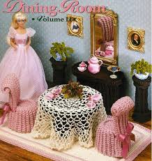 the dining room fashion doll barbie home decor furniture crochet