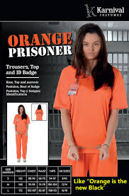 Orange Prison Jumpsuit Halloween Costume Halloween Female Costumes