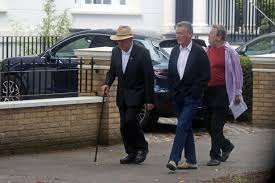 terry jones looks a picture of health on stroll with monty python