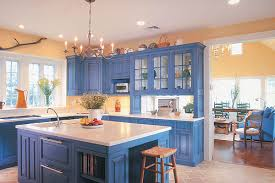 blue cabinets in kitchen blue kitchen cabinets home design ideas