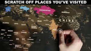 Scratch Off World Map Scratch Off World Map Poster Smart Traveler Store Youtube