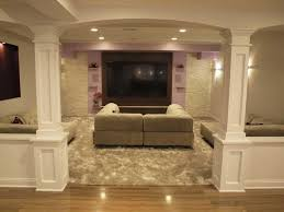 stair step in basement wall finished basement bar ideas