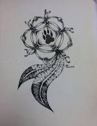 wolf paw dreamcatcher search tattoos
