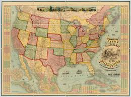 States In Usa Map by American Union Railroad Map Of The United States David Rumsey