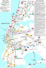 Maps New York City by New York City Subway Map New York City Ny U2022 Mappery
