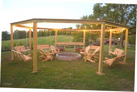 swing pergola fire pits adjustable portable grill sticks in the ground over