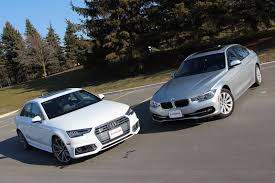 2009 audi a4 vs bmw 3 series 2017 audi a4 vs bmw 3 series comparison review autoguide com