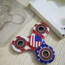 Spin Flag America Flag Usa Fidget Spinner Camouflage Color Printing Triangle