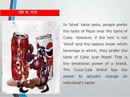 Pepsi Blind Taste Test Customer Centered Brand Management Case