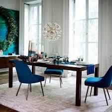 gray dining room ideas mid century upholstered dining chair velvet west elm