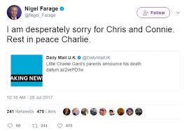 charlie gard u0027s parents announce his death daily mail online