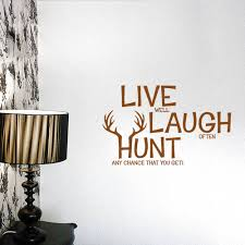 live laugh hunt quotes wall stickers retail
